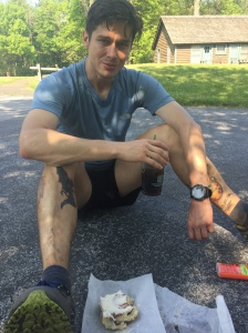That friends, is a giant cinnamon roll I inhaled during a recent 21-mile mountain run. It's ok to indulge, at long as it's not a regular occurrence.